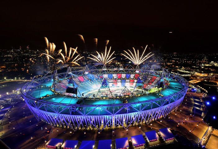 Aerial shot of the stadium aglow_169847